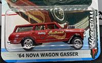 '64 Nova Wagon Gasser - redhead