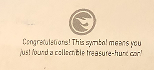 The Silver symbol on the card is a treasure hunt
